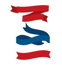 July fourth ribbons set vector image