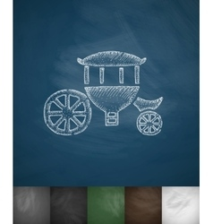 Brougham icon hand drawn vector
