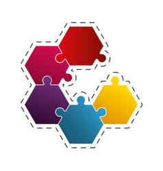 Puzzle work solution image vector