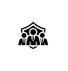security management icon flat design vector image