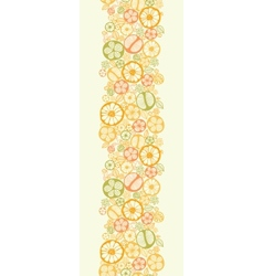 Citrus slices vertical seamless pattern background vector