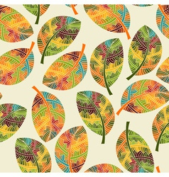 Seamless Pattern with Bright Autumn Leaves vector image