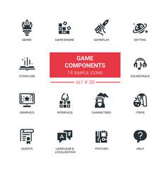 Game components - modern line design vector