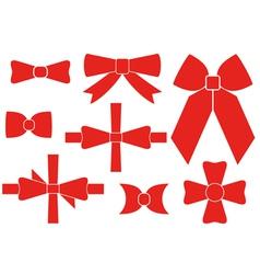 Bow set vector