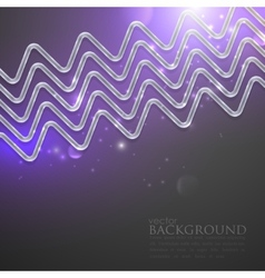Abstract shiny background with silver zigzags vector