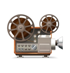 Film projector realistic vector