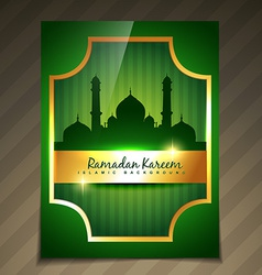 Golden ramadan template vector