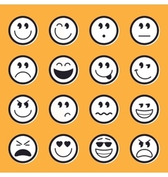 Emoticons stock vector image