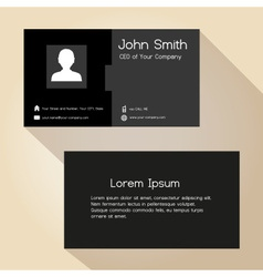 Simple black and gray business card design eps10 vector