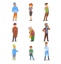 People of different lifestyle age and profession vector