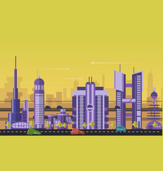 Busy urban cityscape templates with modern vector