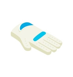 Golf glove isometric 3d icon vector