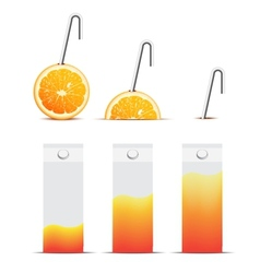Color packages for juice store vector