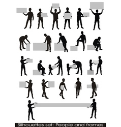People and frames vector