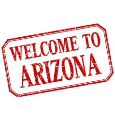 Arizona - welcome red vintage isolated label vector