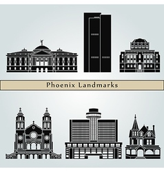 Phoenix landmarks and monuments vector image
