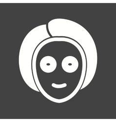 Mask on face vector