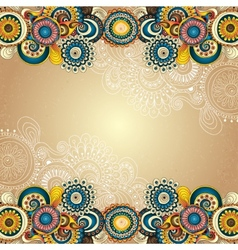 Abstract floral decorative background vector