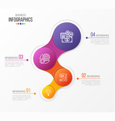 Abstract infographic design 4 steps vector