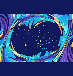 Abstract night background with frame poster vector