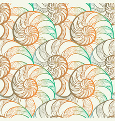 abstract spiral seamless pattern wave nautilus vector image