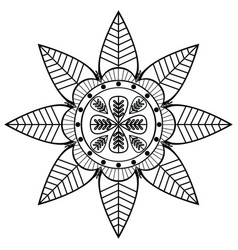 Asian flower shape with 8 leaves inspired vector