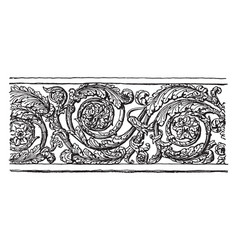 Band ornament fragment from temple of vespasian vector