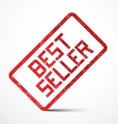 Best seller red stamp vector