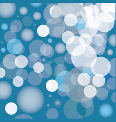Blue bubbles bacground icon vector