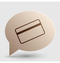 Credit card symbol for download brown gradient vector