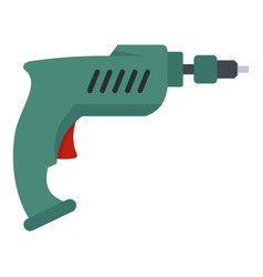 drill icon isolated vector image vector image