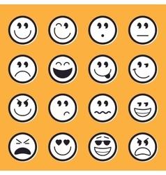 Emoticons stock vector image vector image
