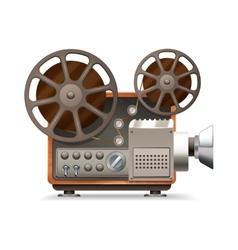 Film projector realistic vector