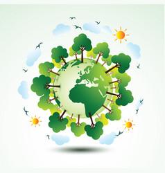 green eco earth vector image vector image