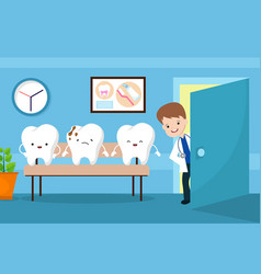 healthy mouth kids concept teeth in vector image vector image