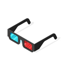 Isometric of 3d glasses vector