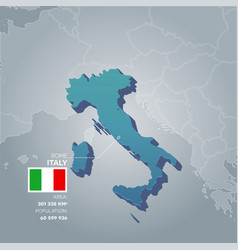 Italy information map vector