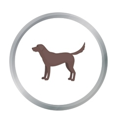 Labrador icon in cartoon style for web vector image