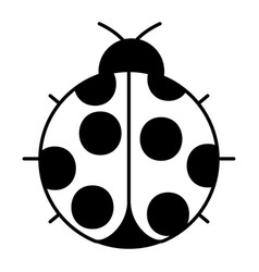 ladybug insect small icon animal vector image vector image