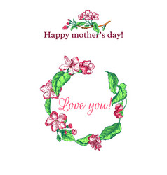 Mothers day sketch vector