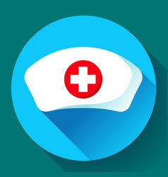 Nurse hat icon flat nurse icon vector