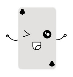 Poker card kawaii character vector