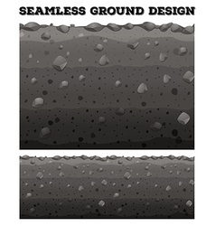 Seamless ground with different layers vector