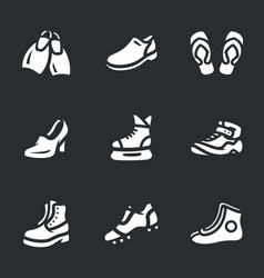 Set of footwear icons vector