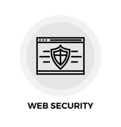 Web Security Line Icon vector image