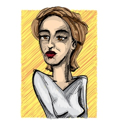 Portrait sketch vector image