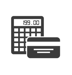 Credit card investment icon vector