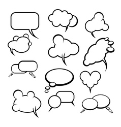 Comics style speech bubbles balloons on background vector image