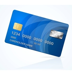 Credit card blue icon isolated on white vector
