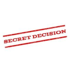 Secret decision watermark stamp vector